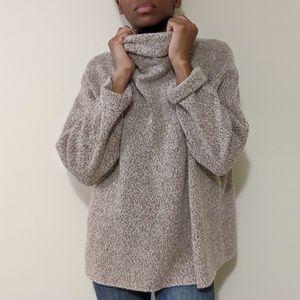 Eileen Fisher Merino Wool Turtle Cowl Neck Sweater